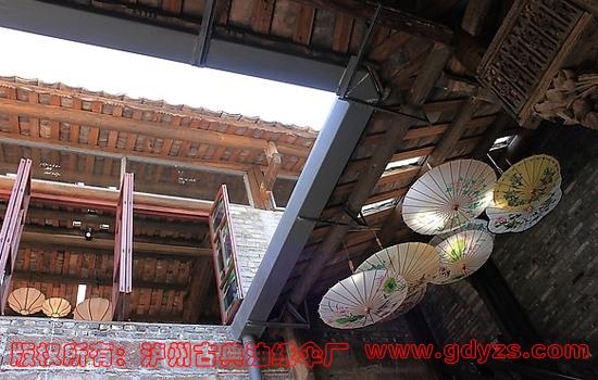 中式复古风格装修 复古灯伞 泸州古典油纸伞厂