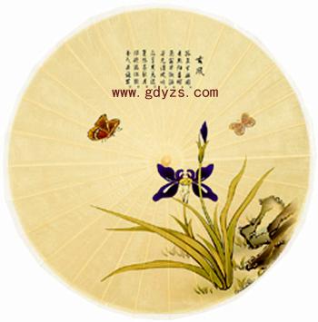 供应兰花图油纸伞|传统油纸伞